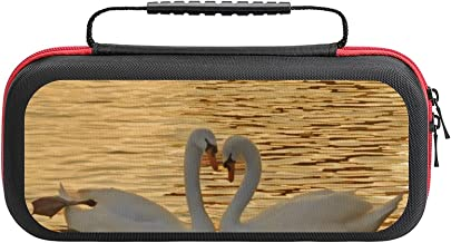 Swan Couple Meeting At Sunset Case Compatible with Switch Case Protective Carry Bag Hard Shell Storage Bag Portable Travel... photo