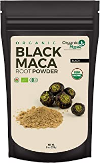 Organic Black Maca Powder - 8oz - Raw, Non GMO, Health Enhancement Supplement by Organic Passion