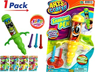 Gyro Shaking Pen (Pack of 1) and 1 bouncy Ball Bundle by JA-RU | Vibrating Fun. Assorted Styles| Item #1316-1p