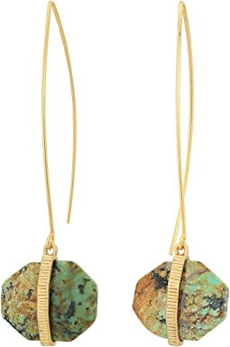 LAUREN Ralph Lauren - Stone with Textured Metal Drop Earrings