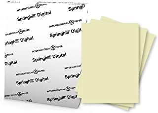 "Springhill 8.5"" x 11"" Ivory Colored Cardstock Paper, 65lb, 176gsm, 250 Sheets (1 Ream) – Premium Medium Weight Vellum Card..."