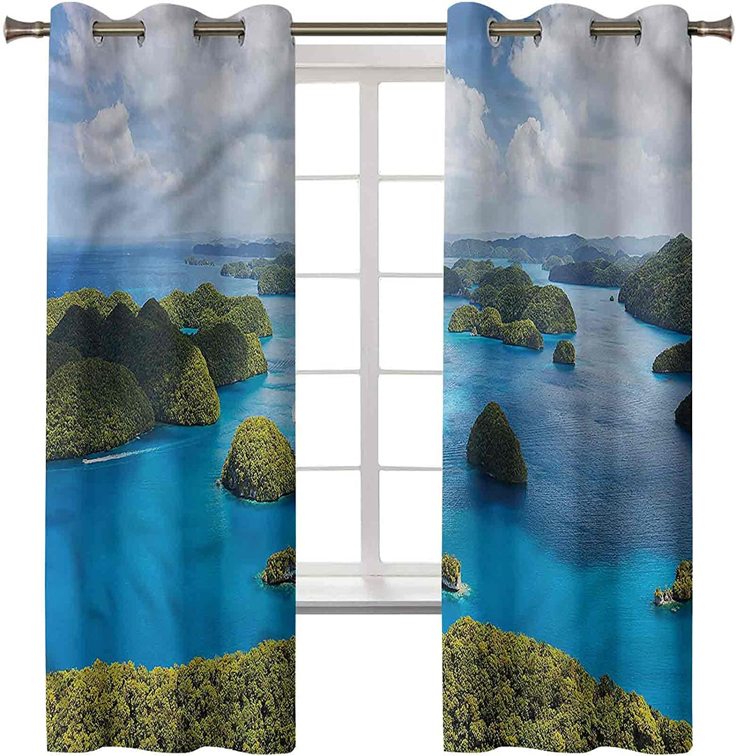 Max 70% OFF Island Charlotte Mall Blackout Curtains for Bedroom Set 45L x 2 Panels of 38W