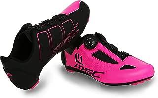 MSC Bikes Aero Road Cycling Shoes, Fuchsia, T-45