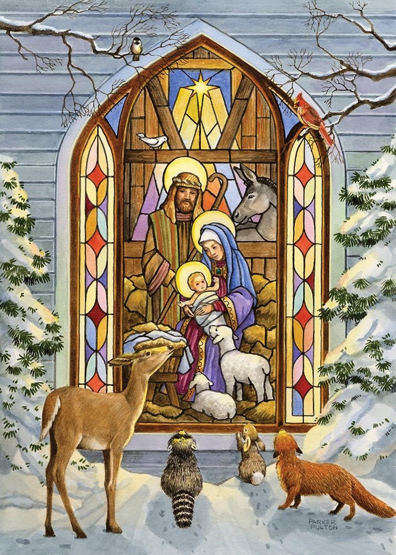 Gebeizt Glas Krippe Weihnachten Karten – Set 15 Stück B009416U5U | Flagship-Store