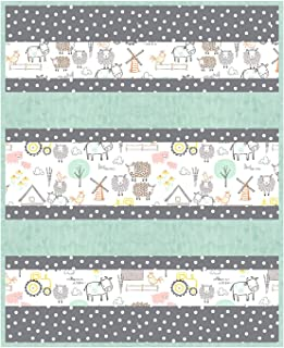 Minky Bambino Hay, There Cuddle Kit Quilt Kit Shannon Fabrics