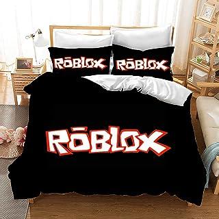 Fgolphd Roblox påslakanset, barnsängkläder 3D-digitaltryck polyester, allmänt för vuxna och barn (15, enkel 135 × 200 cm)