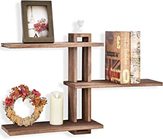 GLORIEUX ART Floating Shelves Wall Mounted Rustic Wall Wood Shelves 3 Tier for Decor and Storage at Bedroom Living Room Of...