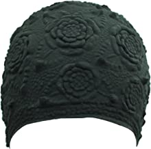 Floral Embossed Latex Swim Cap
