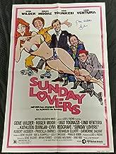 GENE WILDER & ROGER MOORE Signed 27x40 Sunday Lovers Original Movie Poster PSA