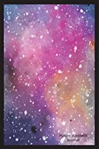 Purple Abstract Journal: Celestial Art Graphic Novelty Gift Notebook for Kids