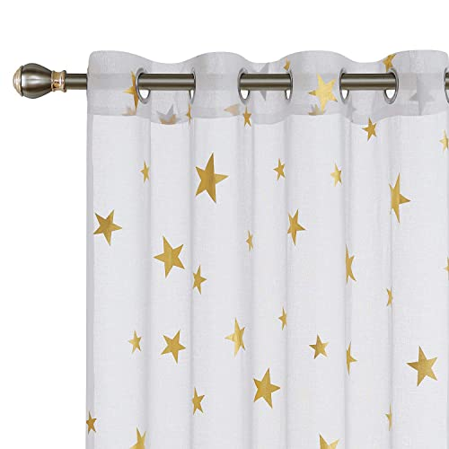 Print Sheer Window Curtains: Amazon.com