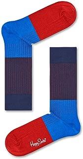 Happy Socks Men's Block Rib Sock, Multicoloured, 41-46