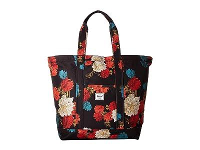 Herschel Supply Co. Bamfield Mid-Volume (Vintage Floral Black) Tote Handbags