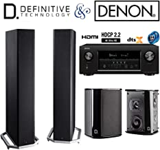 Denon AVR-S920W Receiver Bundle with Definitive Technology (2) BP9020 and (2) SR9040