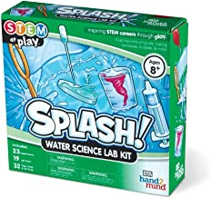 hand2mind Splash! Bubbles & Water Science Kit For Kids (Ages 8+) - Build 23 Stem Career Experiments & Activities | Make Water Tornadoes, Dancing Bubbles, & More! | Educational Toy | STEM Authenticated