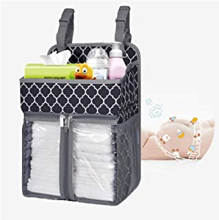 BAGLHER Hanging Diaper Organizer,Baby Diaper Organizer Suitable for Hanging on Diaper Table, Nursery, and All Cribs. Baby ...