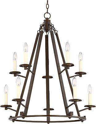 Golden Lighting 2360-4 RBZ Four Light Chandelier Bronze