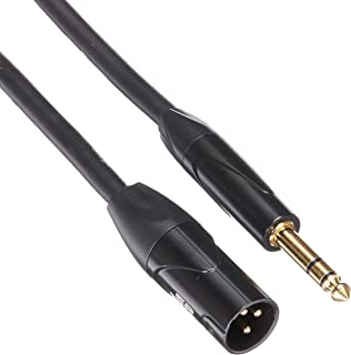 Monoprice XLR Male to 1/4Inch TRS Male Cable - 6 Feet | 16AWG, Gold Plated - Stage Right Series