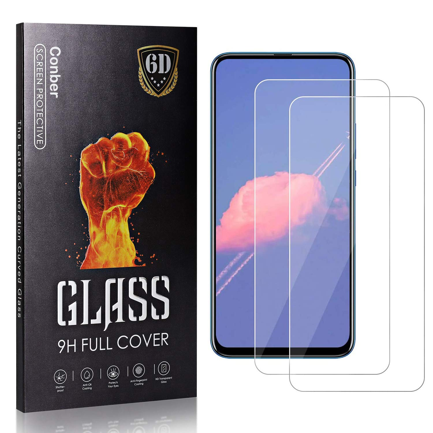 Conber 2 Tampa Mall Pack Screen Protector for Pro Huawei Temper 9X Honor Don't miss the campaign