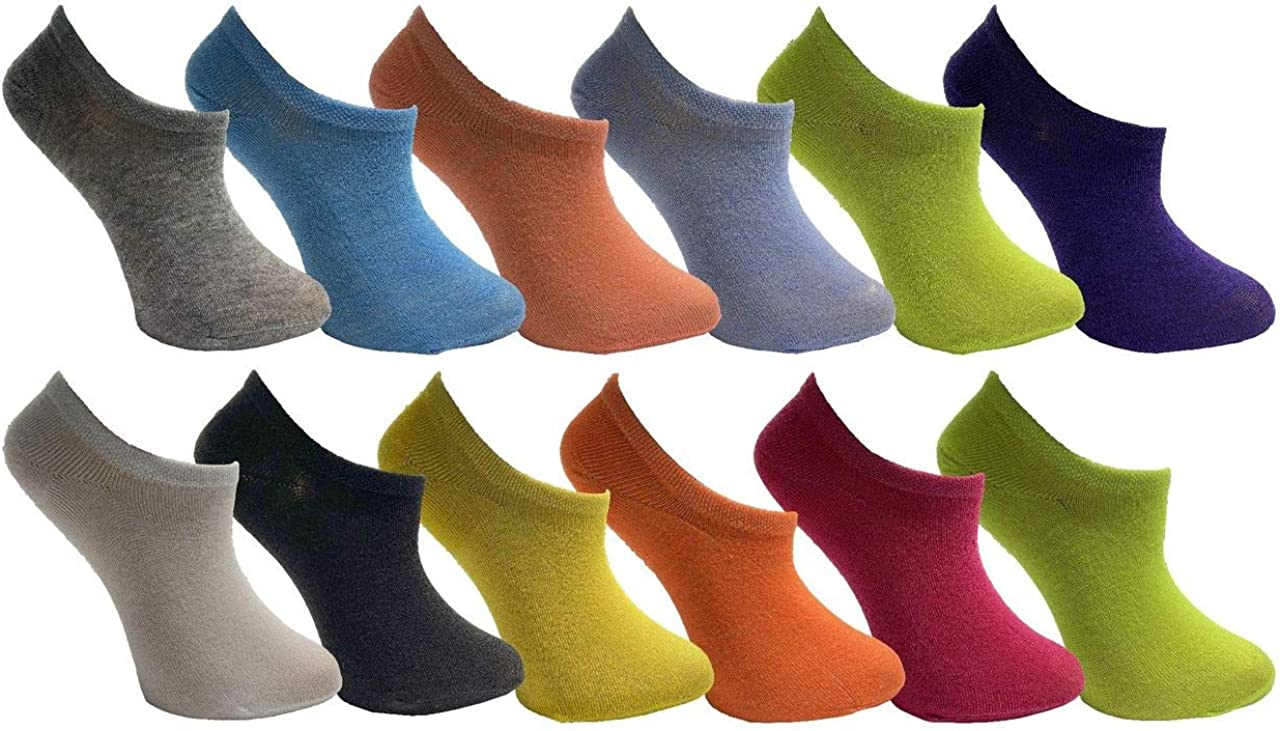 Yacht & Smith Womens Low Cut Ankle Socks, Colorful Bright Neon Colors, Cute Patterns Bulk