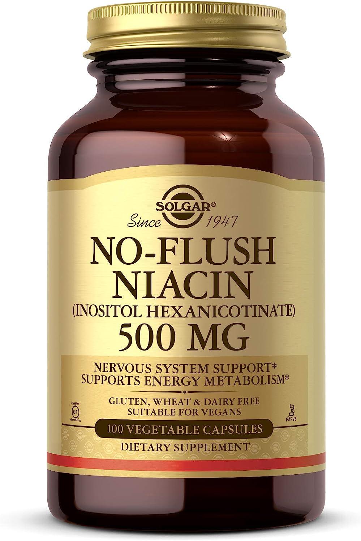 latest Solgar No-Flush Store Niacin 500 mg - Cardiova Vegetable 100 Capsules