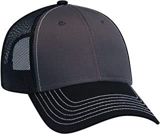 Adjustable Blank 6 Panel Structured Low Profile Contrast Stitching Mesh Back Baseball Cap/Trucker Hat
