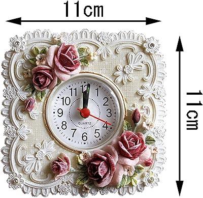 ロココ調 エレガント 置時計 インテリア 姫系 ヨーロッパ 薔薇 ローズ プリンセス 時計 (Aタイプ)