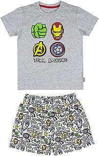 Cerdá Avengers | Pijama Los Vengadores Niño de Color Gris Juego Niños