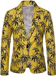 Mens Floral Party Dress Suit Casual Suits Blazer Funky Printed Suit Jackets Slim Fit Blazer Party Suit Jacket Tops Goosun ...