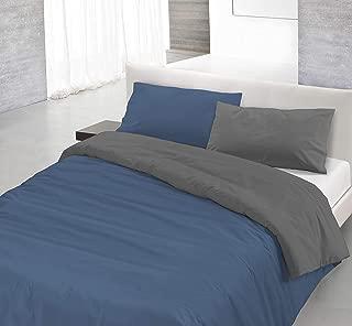 Datex Trade Copripiumino.Italian Bed Linen Set Copripiumino Giallo Bianco 150 X 200 Cm