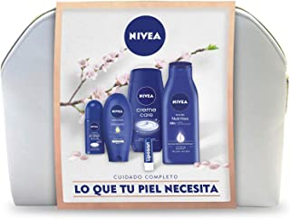 NIVEA Neceser Body Cuidado Completo con body milk 1 x 400 ml crema de manos 1 x 100 ml desodorante roll on 1 x 50 ml ge...