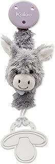 Kaloo Les Amis Pacifier Holder Donkey-Grey Plush
