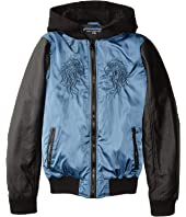 Francis Embroidered Satin with Fleece Hoodie (Little Kids/Big Kids)