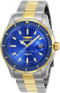 Invicta Men's Pro Diver Stainless Steel Quartz Watch with Stainless-Steel Strap, Two Tone, 22 (Model: 25815)