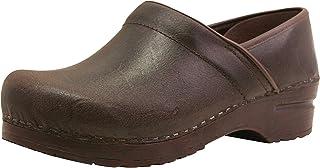 Sanita Professional Vintage Closed Clog | Original Handmade Flexible Leather Clog for Women | Maximum stability | Anatomic...