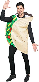 Spooktacular Creations Taco Costume Adult Deluxe Set for Halloween Dress Up Party