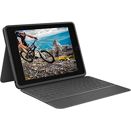 Logitech Rugged Folio – Funda con teclado protectora para iPad 7a generación con Smart Connector y teclado a prueba de derrames, Disposición QWERTY ...