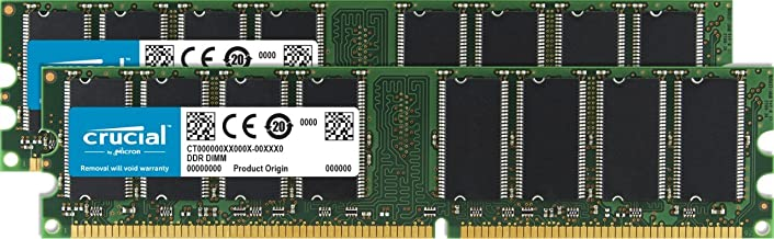 Crucial 2 GB Kit (2 x 1GB) DDR PC3200 UNBUFFERED Non-ECC 184-PIN DIMM