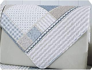 Joyfeel-light Sofa Covers Cotton Eco Sofa Plaid Pattern Slipcover Couch Cover Four Seasons Available Home Wedding Decoration 1 Piece,Sofa Towel 1Pcs,70X70Cm 1Pcs