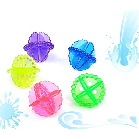 Right Products Washing Machine Ball Laundry Dryer Ball Durable Cloth Cleaning Ball-Rendom Colour(6 Pcs).