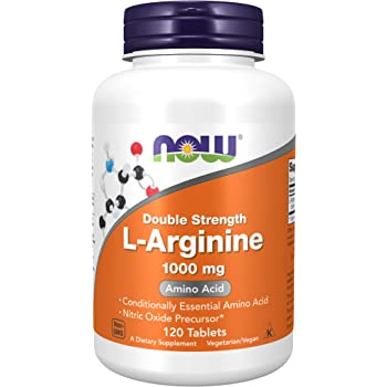 NOW Foods Supplements, L-Arginine 1,000 mg, Nitric Oxide Precursor, Amino Acid, 120 Tablets