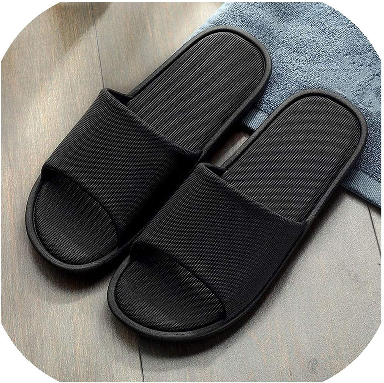 Men Home Slippers shoes Man Indoor Flat Slipper Non-Slip Sole Unisex Bathroom Slipper Soli,