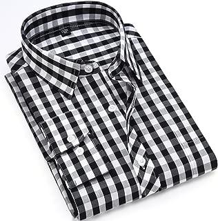 AISHITE チェックシャツ ドレスシャツ シャツ メンズ yシャツ 長袖 アメカジ系 サロン系 キレカジ系 カジュアル