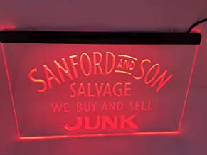 red Sanford and Son Salvage Buy Sell Junk Beer Bar Led Light Sign