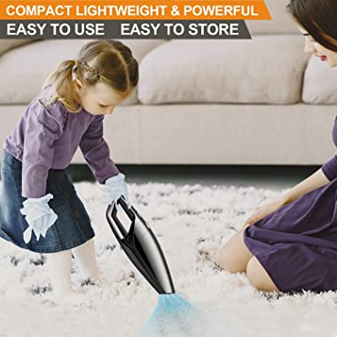 HENFORTO Handheld Vacuum Cleaner Cordless Hand Vacuum Rechargeable Hand Held Vacuuming