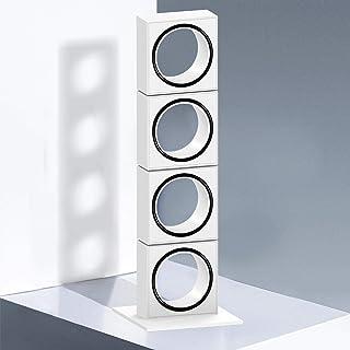 Bojim Lampe de Chevet Tactile Dimmable 4 x 6W COB Intégré 3000K Blanc Chaud 1200LM, Lampe Decorative à Poser avec 4 Abat-j...