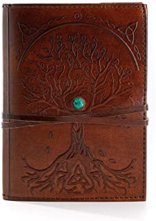 Komal's Passion Leather Leather Journal Refillable Lined Paper Tree of Life Handmade Leather Journal/Writing Notebook Diar...