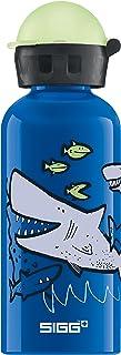 Sigg Sharkies, Botella para niños, Prueba de Fugas, sin BPA, Aluminio, Azul - 0.4 L
