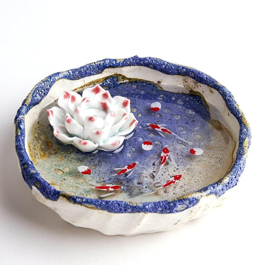 かどうか記事浸透するお香立て お香たて 香の器 お香を焚いて 香皿,陶磁器、 ブルー