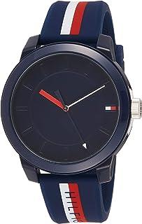 ساعة يد بحركة كوارتز للرجال من تومي هيلفجر- سوار سيليكون، لون ازرق- 1791746